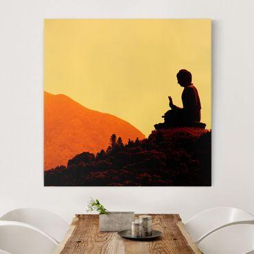 Stampa su tela - Resting Buddha - Quadrato 1:1