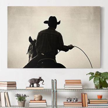 Stampa su tela - Riding Cowboy - Orizzontale 3:2