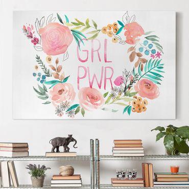 Stampa su tela - Fiori rosa - Girl Power - Orizzontale 3:2