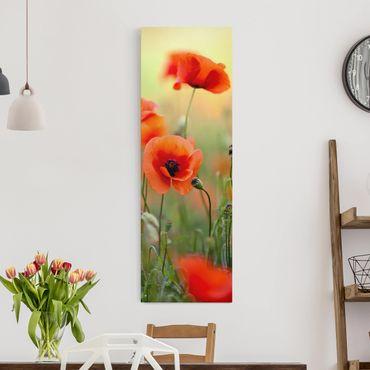 Stampa su tela - Red Summer Poppy - Pannello