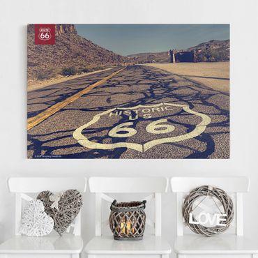 Stampa su tela - Route 66 - Storico - Orizzontale 3:2