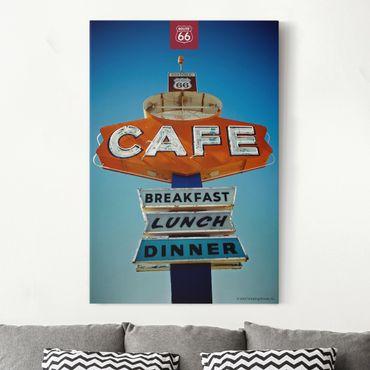 Stampa su tela - Route 66 - Iscriviti Café - Verticale 2:3
