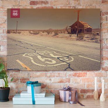 Stampa su tela - Route 66 - Camera abbandonata - Orizzontale 3:2