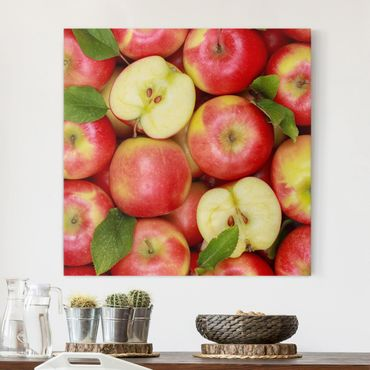 Stampa su tela - Juicy Apples - Quadrato 1:1