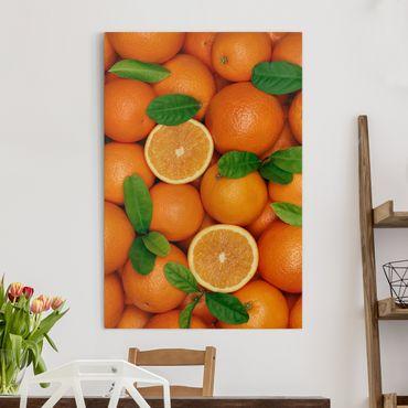 Stampa su tela Juicy oranges - Verticale 2:3