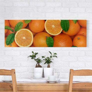 Stampa su tela - Juicy Oranges - Panoramico