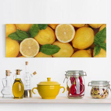 Stampa su tela - Juicy Lemons - Panoramico