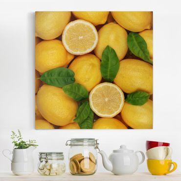 Stampa su tela - Juicy Lemons - Quadrato 1:1