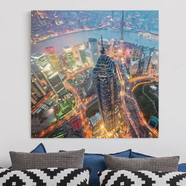 Stampa su tela - Shanghai - Quadrato 1:1
