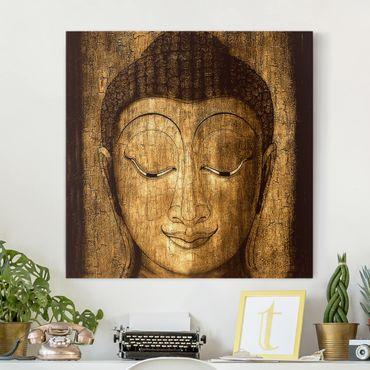 Stampa su tela - Smiling Buddha - Quadrato 1:1