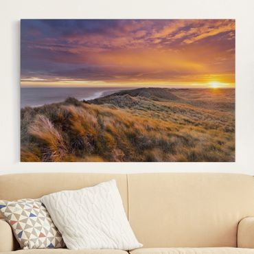 Stampa su tela - Sunrise at the beach on Sylt - Orizzontale 3:2
