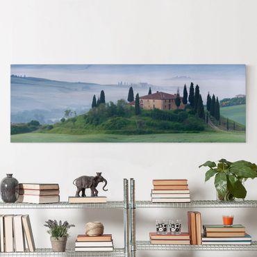 Stampa su tela - Sunrise In Tuscany - Panoramico