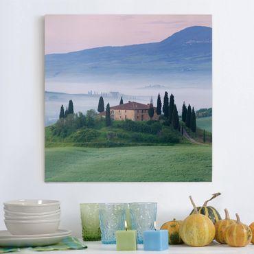 Stampa su tela - Sunrise In Tuscany - Quadrato 1:1