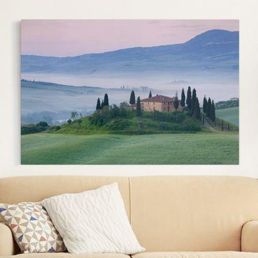 Stampa su tela - Sunrise in Tuscany - Orizzontale 3:2