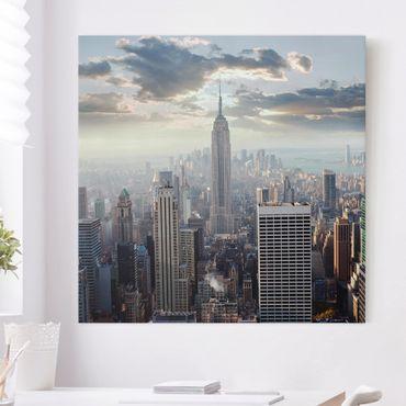 Stampa su tela - Sunrise In New York - Quadrato 1:1