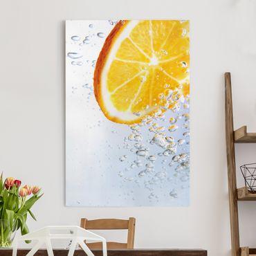 Stampa su tela Splash Orange - Verticale 2:3