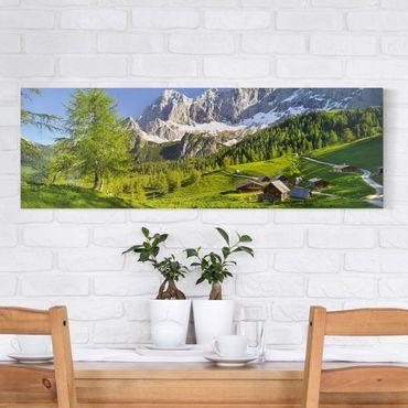 Stampa su tela - Styria Alpine Meadow - Panoramico