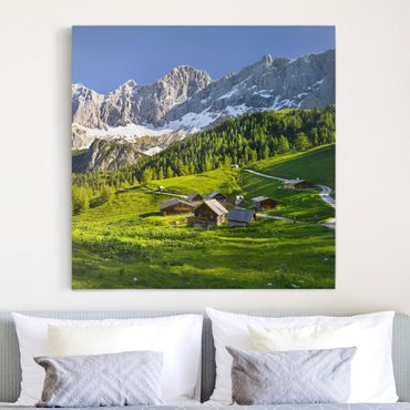 Stampa su tela - Styria Alpine Meadow - Quadrato 1:1