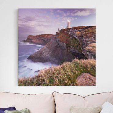 Stampa su tela - Cliffs And Lighthouse - Quadrato 1:1