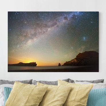 Stampa su tela - Starry sky over the sea - Orizzontale 3:2