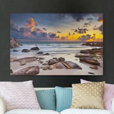 Stampa su tela - Sunrise beach in Thailand - Orizzontale 3:2