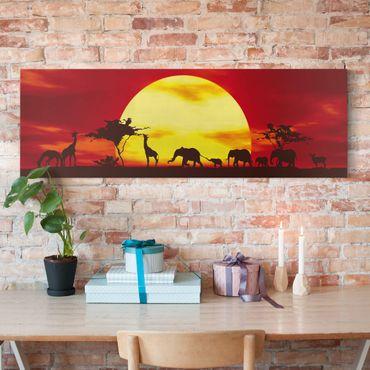 Stampa su tela - Sunset Caravan - Panoramico