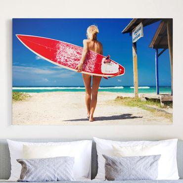 Stampa su tela - Surfer Girl - Orizzontale 3:2