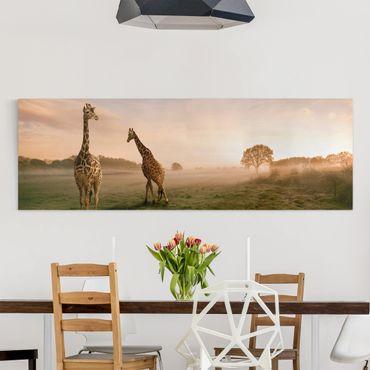 Stampa su tela - Surreal Giraffes - Panoramico