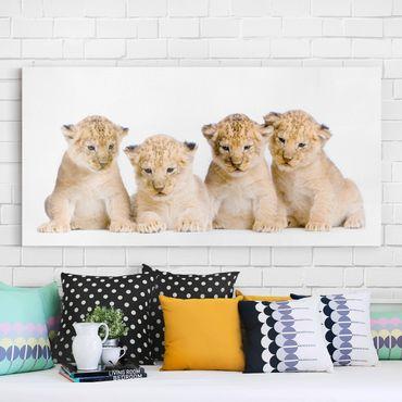 Stampa su tela - Sweet Lion Baby - Orizzontale 2:1