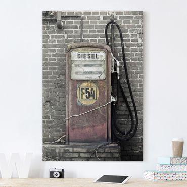Stampa su tela Gas station - Verticale 2:3