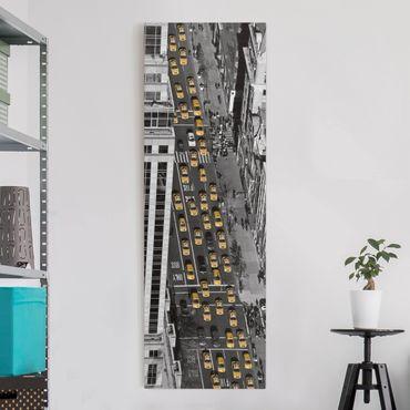 Stampa su tela - Taxi Traffic In Manhattan - Pannello