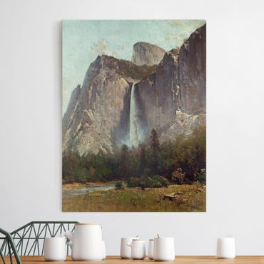 Stampa su tela - Thomas Hill - Bridal Veil Falls - Yosemite Valley - Verticale 3:4