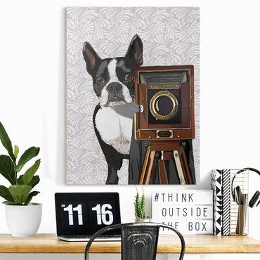 Stampa su tela - Wildlife Photographer Terrier - Verticale 3:4