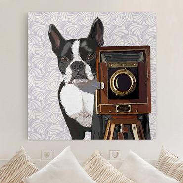 Stampa su tela - Wildlife Photographer Terrier - Quadrato 1:1