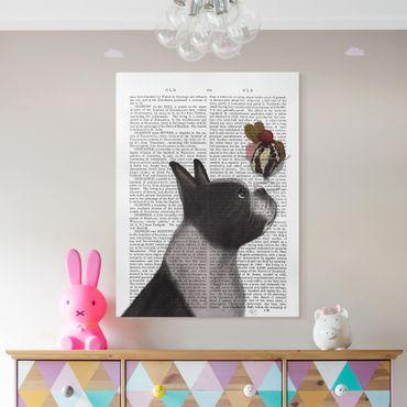 Stampa su tela - Lettura Degli Animali - Terrier Con Ghiaccio - Verticale 3:4