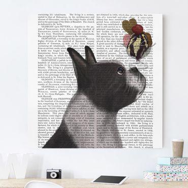 Stampa su tela - Reading Animal - Terrier Con Ghiaccio - Quadrato 1:1