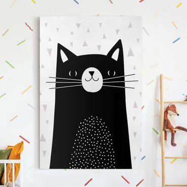 Stampa su tela - Zoo con i modelli - Cat - Verticale 2:3
