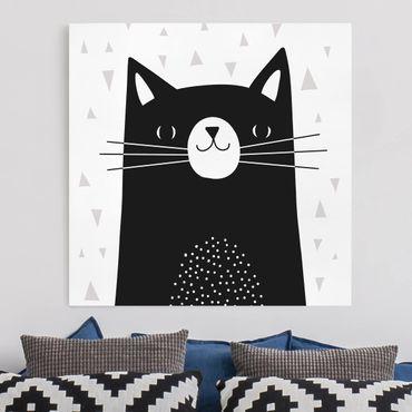 Stampa su tela - Zoo con i modelli - Cat - Quadrato 1:1