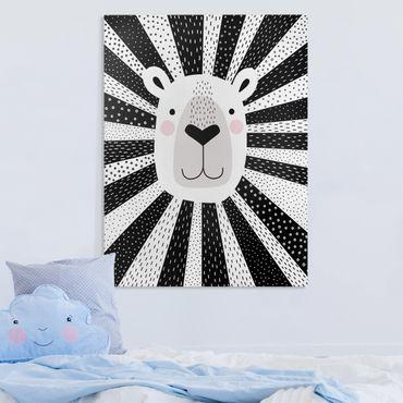 Stampa su tela - Zoo Con I Modelli - Lion - Verticale 3:4