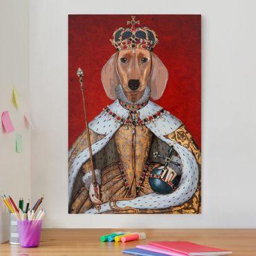 Stampa su tela - Ritratto Animal - Bassotto Regina - Verticale 2:3
