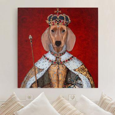 Stampa su tela - Ritratto Animal - Bassotto Regina - Quadrato 1:1