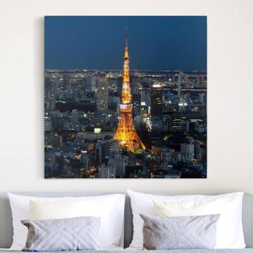 Stampa su tela - Tokyo Tower - Quadrato 1:1