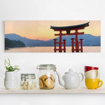 Stampa su tela - Torii At Itsukushima - Panoramico