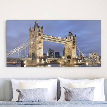 Stampa su tela - Tower Bridge At Night - Orizzontale 2:1