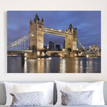 Stampa su tela - Tower Bridge at night - Orizzontale 3:2