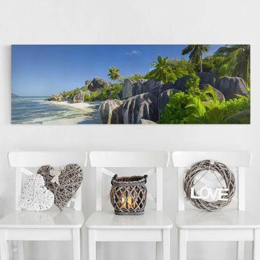 Stampa su tela - Dream Beach Seychelles - Panoramico