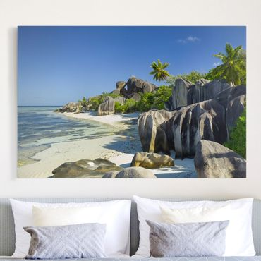 Stampa su tela - Dream beach Seychelles - Orizzontale 3:2