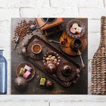 Stampa su tela - Turkish Coffee - Quadrato 1:1