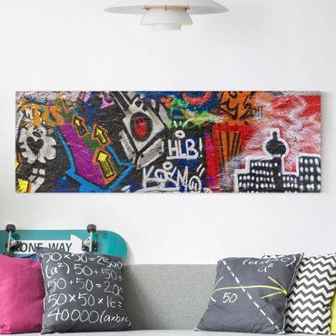 Stampa su tela - Urban Graffiti - Panoramico