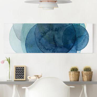 Stampa su tela - Big Bang - Blu - Panoramico